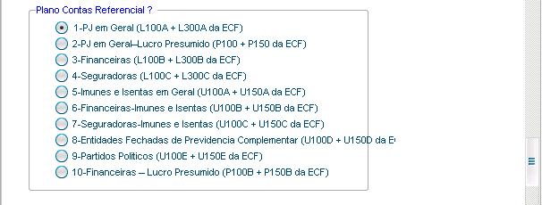 Escolha o Plano de Contas Referencial, caso tenha alguma dúvida fale como Contador para que ele indique o planoo correto.